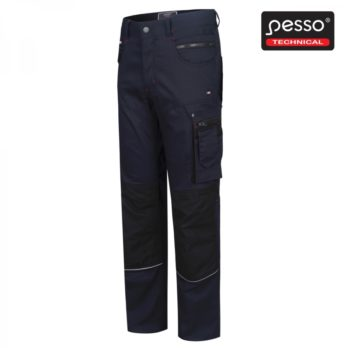Darbo kelnės Pesso iš tvirto medvilninio STRETCH 215 audinio su elastanu, mėlynos