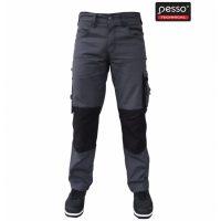 Darbo kelnės Pesso iš itin tvirto Canvas audinio pilkos | KDCP