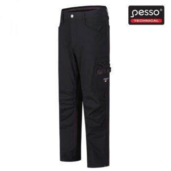 Darbo kelnės Pesso iš tvirto ir tampraus STRETCH audinio Pesso Mercury, juodos | KD145B