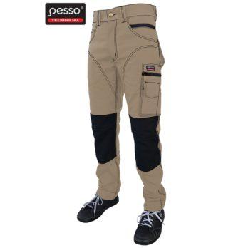 Darbo kelnės Pesso iš itin tvirto Twill audinio, rudos | KDRD
