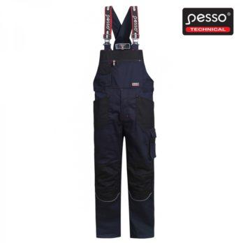 Darbo puskombinezonis Pesso iš tvirto medvilninio STRETCH 215 audinio su elastanu, mėlynas