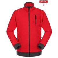 Fleece audinio džemperis Pesso, raudonas. Patogus, švelnus ir šiltas.