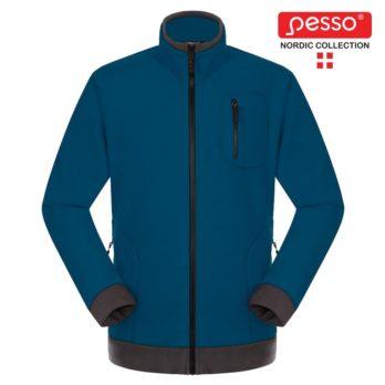 Fleece audinio džemperis Pesso, mėlyna. Patogus, švelnus ir šiltas.