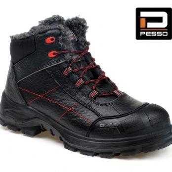 Pašiltinti natūralios grublėtos odos darbo batai Pesso ARCTIC S3 Kevlar