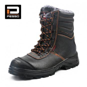 Pašiltinti natūralios grublėtos odos darbo batai Pesso BS659 S3 Kevlar