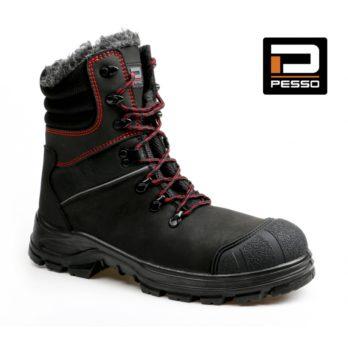 Pašiltinti natūralios nabuko odos darbo batai Pesso KODIAK S3 Kevlar