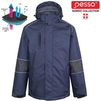 Šilta neperšlampanti striukė Pesso ARVIKA, mėlyna