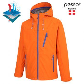 Nepralaidi vandeniui, neperpučiama, kvėpuojanti striukė Pesso Bonna, oranžinė | BONNA_OR