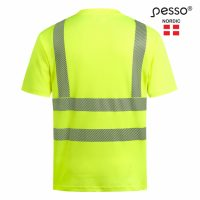 Marškinėliai Pesso HVMCOT HI-VIS, geltoni